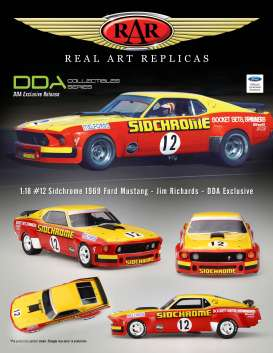 Ford  - Mustang #12 Jim Richards 1969 red/yellow - 1:18 - Acme Diecast - rar18008 - acmeRAR18008 | Toms Modelautos