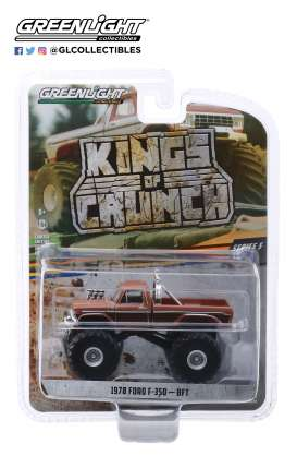 Ford  - F-350 BFT Monster Truck 1972 brown - 1:64 - GreenLight - 49050A - gl49050A | Tom's Modelauto's