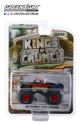 Chevrolet  - K20 Silvarado Monster Truck 1987 black - 1:64 - GreenLight - 49050E - gl49050E | Tom's Modelauto's