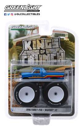 Ford  - F-250 Monster Truck 1996 blue - 1:64 - GreenLight - 49050F - gl49050F | Tom's Modelauto's