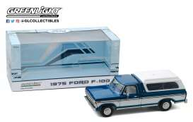 Ford  - F-100 1975 blue/white - 1:18 - GreenLight - 13544 - gl13544 | Tom's Modelauto's