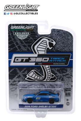 Ford  - Mustang 2016 blue - 1:64 - GreenLight - 30109 - gl30109 | Toms Modelautos