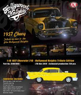 Chevrolet  - 210 Hollywood Knights yellow - 1:18 - Acme Diecast - 1807006 - acme1807006 | Toms Modelautos