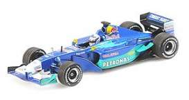 Sauber  - 2001 blue/light blue - 1:43 - Minichamps - 410010117 - mc410010117 | Tom's Modelauto's
