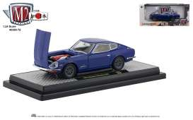 Nissan  - Fairlady 1970 blue/black - 1:24 - M2 Machines - 40300-72B - M2-40300-72B | Tom's Modelauto's