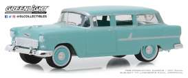 Chevrolet  - Two-Ten Townsman 1955 blue/green - 1:64 - GreenLight - 29970A - gl29970A | Tom's Modelauto's