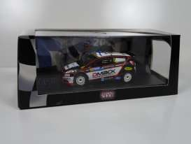Ford  - Fiesta 2013 black/white - 1:43 - Magazine Models - wp1402L13c08 - MagRfwp1402L13c08 | Tom's Modelauto's