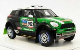 Mini  - All4 Racing 2013 black/green - 1:43 - Magazine Models - wp1402L13c12 - MagRfwp1402L13c12 | Tom's Modelauto's