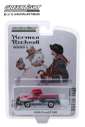 Ford  - F-100 1956 grey/red - 1:64 - GreenLight - 54020C - gl54020C | Toms Modelautos