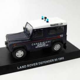 Land Rover  - Defender 90 blue - 1:43 - Magazine Models - 049 - magcara049 | Tom's Modelauto's