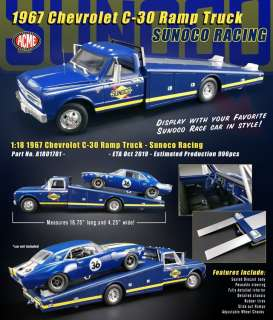 Chevrolet  - C-30 Ramp Truck 1967 blue/yellow - 1:18 - Acme Diecast - 1801701 - acme1801701 | Toms Modelautos