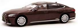 Lexus  - LS500h red/brown - 1:43 - Kyosho - 03686sa - kyo3686sa | Toms Modelautos