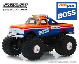 Chevrolet  - F-10 Monster Truck 1972 orange/blue - 1:43 - GreenLight - 88021 - gl88021 | Tom's Modelauto's
