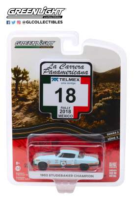 Studebaker  - Champion 1953 blue - 1:64 - GreenLight - 13260B - gl13260B | Tom's Modelauto's