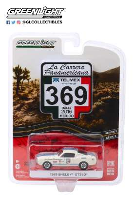 Shelby  - GT350 1965 white - 1:64 - GreenLight - 13260D - gl13260D | Tom's Modelauto's