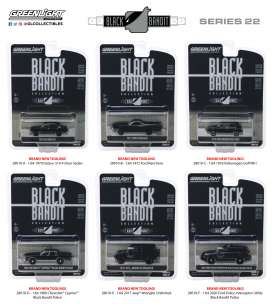 Assortment/ Mix  - black - 1:64 - GreenLight - 28010 - gl28010 | Tom's Modelauto's