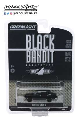 Datsun  - 510 1970 black - 1:64 - GreenLight - 28010A - gl28010A | Tom's Modelauto's
