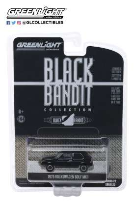 Volkswagen  - Golf Mk1 1976 black - 1:64 - GreenLight - 28010C - gl28010C | Tom's Modelauto's