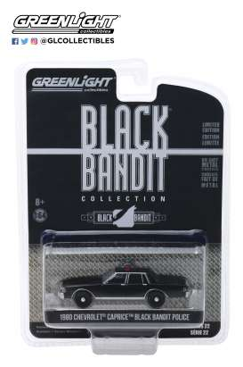 Chevrolet  - Caprice  1980 black - 1:64 - GreenLight - 28010D - gl28010D | Tom's Modelauto's