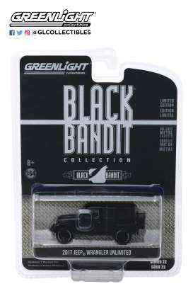 Jeep  - Wrangler 2017 black - 1:64 - GreenLight - 28010E - gl28010E | Tom's Modelauto's