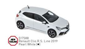 Renault  - Clio 2019 pearle white - 1:43 - Norev - 517588 - nor517588 | Toms Modelautos