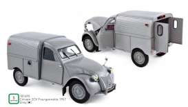 Citroen  - 2CV 1957 grey - 1:18 - Norev - 181490 - nor181490 | Tom's Modelauto's