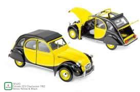 Citroen  - 2CV 1957 yellow/black - 1:18 - Norev - 181493 - nor181493 | Toms Modelautos