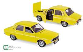 Renault  - 12 TS 1973 yellow - 1:18 - Norev - 185212 - nor185212 | Tom's Modelauto's
