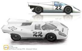 Porsche  - 917K 1970 white - 1:12 - Norev - 127504 - nor127504 | Tom's Modelauto's