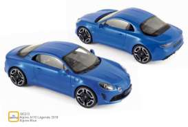 Alpine Renault - A110 2018 blue - 1:18 - Norev - 185312 - nor185312 | Tom's Modelauto's