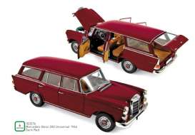 Mercedes Benz  - 200 Universal 1966 red - 1:18 - Norev - 183576 - nor183576 | Toms Modelautos