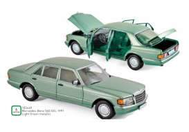Mercedes Benz  - 560 SEL 1991 green - 1:18 - Norev - 183469 - nor183469 | Toms Modelautos