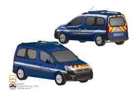 Peugeot  - Partner 2018 blue - 1:18 - Norev - 184890 - nor184890 | Toms Modelautos