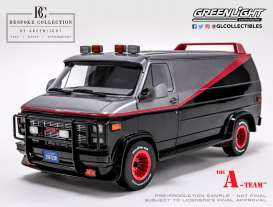 GMC  - Vandura *A Team* 1983 grey/black - 1:12 - GreenLight - 12101 - gl12101 | Tom's Modelauto's