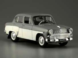 Moskvitch  - 407 1958 grey/cream - 1:43 - Magazine Models - magrus204 | Toms Modelautos
