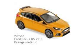 Ford  - Focus RS 2018 orange - 1:43 - Norev - 270566 - nor270566 | Tom's Modelauto's