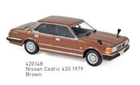 Nissan  - Cedric 430 1979 brown - 1:43 - Norev - 420148 - nor420148 | Tom's Modelauto's