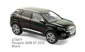 Peugeot  - 3008 GT 2016 black - 1:43 - Norev - 473879 - nor473879 | Tom's Modelauto's