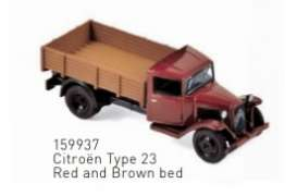 Citroen  - Type 23 1958 red/brown - 1:87 - Norev - 159937 - nor159937 | Toms Modelautos