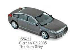 Citroen  - C6 2005 thorium grey - 1:87 - Norev - 155622 - nor155622 | Toms Modelautos