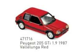 Peugeot  - 205 GTi 1.9 1987 red - 1:87 - Norev - 471716 - nor471716 | Toms Modelautos