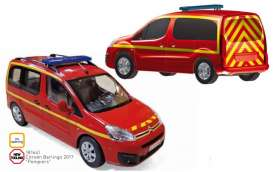 Citroen  - Berlingo 2017 red/yellow - 1:18 - Norev - 181641 - nor181641 | Tom's Modelauto's