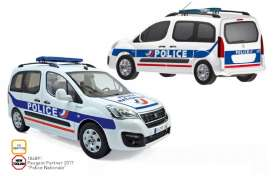 Peugeot  - Partner 2017 white/blue - 1:18 - Norev - 184891 - nor184891 | Tom's Modelauto's