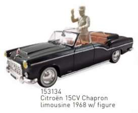 Citroen  - 15CV 1968 black - 1:43 - Norev - 153134 - nor153134 | Toms Modelautos