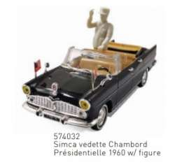 Simca  - Vedette 1960 black - 1:43 - Norev - 574032 - nor574032 | Toms Modelautos