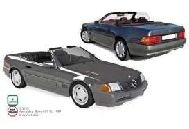 Mercedes Benz  - 500 SL 1989 grey - 1:18 - Norev - 183715 - nor183715 | Toms Modelautos