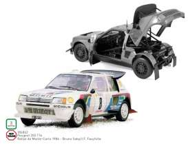 Peugeot  - 205 T16 1986 white/red/blue - 1:18 - Norev - 184862 - nor184862 | Toms Modelautos