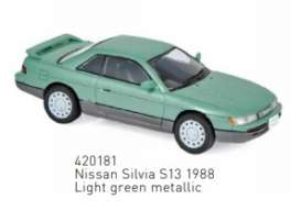 Nissan  - Silvia 1862 light green - 1:43 - Norev - 420181 - nor420181 | Toms Modelautos
