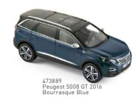Peugeot  - 5008 GT 2016 blue - 1:43 - Norev - 473889 - nor473889 | Tom's Modelauto's