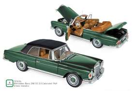 Mercedes Benz  - 230 SE 1969 green - 1:18 - Norev - 183434 - nor183434 | Toms Modelautos